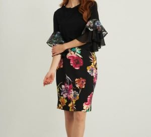 Joseph Ribkoff Floral Pencil Skirt