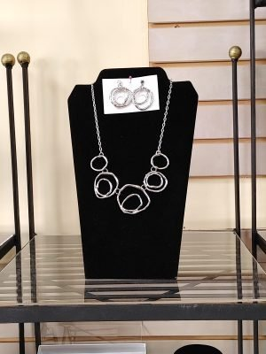 Necklace and Earring Silver Set